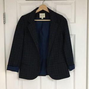 Urban Outfitters navy plaid blazer, size XS.